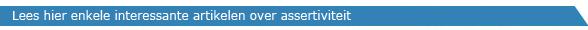 Artikelen Assertiviteit